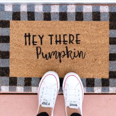 DIY Fall Floormats with Home & Family