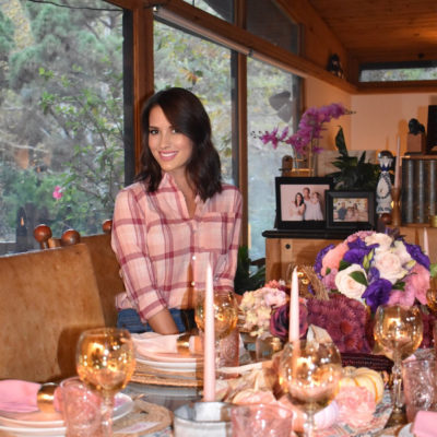 Millennial Pink Fall Dinner Party with Califlour Foods